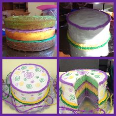 Going to Jazz it up on the outside but EXCITED about the inside! Mardi Gras Food, Mardi Gras Party, New Orleans Mardi Gras, Mardi Gras Decorations, Cupcake Cakes, Fondant Cakes, How Sweet Eats, Creative Cakes, Cake Creations