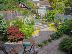 The design for a North London garden is inspired by modern Japanese influences. Bold lines set at a angle to the house slide across the space. Modern Landscape Design, Modern Garden Design, Contemporary Garden, Modern Landscaping, Garden Landscaping, Modern Japanese Garden, Mediterranean Garden Design, London Garden, Earth Design
