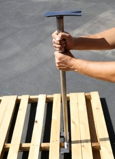 Pallet Tool Breaker Buster with two-sided Handle. by StatesFab