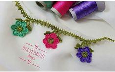 Tam Ölçülü Tuzlu Kurabiye Pull Bebe, Creative Embroidery, Crochet Lace, Pink And Green, Needlework, Sewing Projects, Crochet Earrings, Crochet Patterns, Knitting