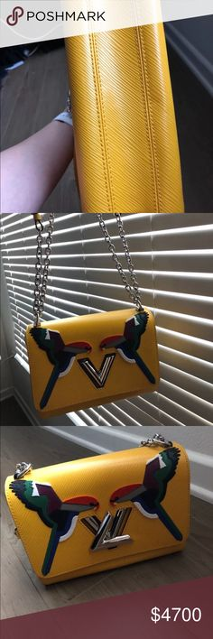 Louis Vuitton early bird PM yellow NEW Limited edition. Collectible. Louis Vuitton summer 2016. Comes with bag and box. BRAND NEW worn once for a picture. Louis Vuitton Bags Clutches & Wristlets