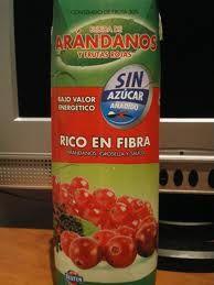 Zumo de arandanos y frutos rojos del Mercadona!