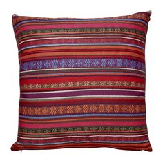 Kussen Mexican rood/paars 45x45 cm | Xenos