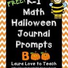 This freebie includes 5 pages (one weeks worth) of a math journal prompt each day for Kindergarten and First graders : ) These prompts are Hallowee...
