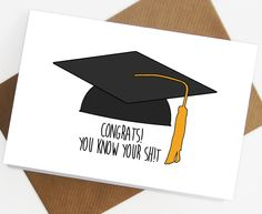 Graduation Card, congratulations on your graduation, funny graduation card, grad, college, university, congrats you passed, clever by SiouxAlice on Etsy https://www.etsy.com/listing/216953705/graduation-card-congratulations-on-your