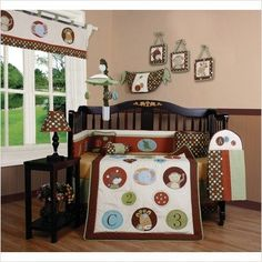 GEENNY Boutique Crib Bedding Set, Animal Scholar, 13 Piece ** Check out the image by visiting the link.
