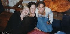 Early friendships: From left, Ruth Currie, Rebecca James and Kate