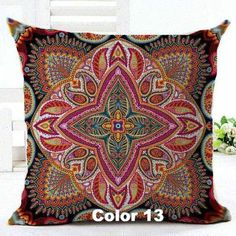 Woven Linen Geometric Cushion Cover Sofa Car Home Decorative Throw Pillow Bohemia Paisley Style SIZE 45*45 Cojines,Home Decorators,[tags] - DeliteShopping