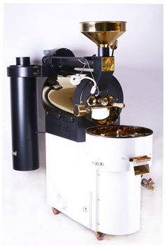 #Kuban#coffee#roaster#5kg #capacity#commercial#coffee#roaster#white#and#golden