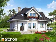Дом в рукколе - Визуализация 1 Bungalow House Plans, Craftsman Style House Plans, Dream House Plans, Modern House Plans, Small House Plans, Modern House Design, H Design, Design Case, Casas Country