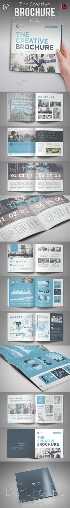 The Creative Square Brochure Template InDesign INDD. Download here…