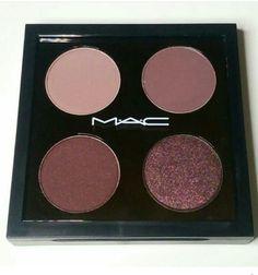 Custom MAC palette! ♡ love ♡ top row: Haux & Blackberry. Bottom row: Sketch & Beauty Marked