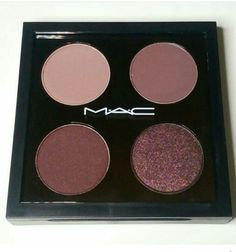 Custom MAC palette! ♡ love ♡ top row: Haux & Blackberry. Bottom row: Sketch & Beauty Marked