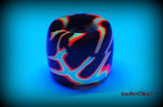 10 mm hole UV dreadbead. Psychedelic psy goa gothic by InnerMind, €2.95