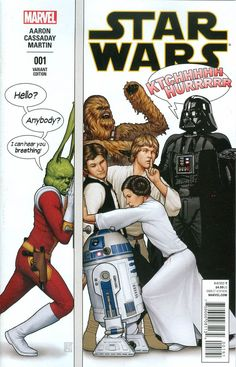 Marvel - Star Wars (2015) #1 - Humorous Party Color Variant Cover