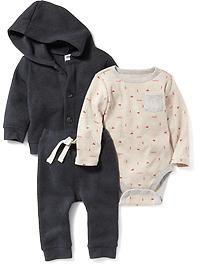 Bodysuit, Hoodie & Pants Set