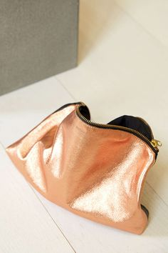 slouchy metallic leather clutch - perfect bag for a night out