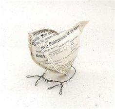 vintage paper bird