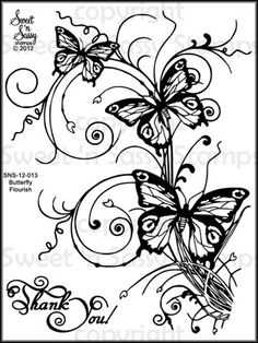 Sweet 'n Sassy Stamps - Butterfly Flourish Clear Stamp Set, $9.00 (http://www.sweetnsassystamps.com/products/Butterfly-Flourish-Clear-Stamp-Set.html)