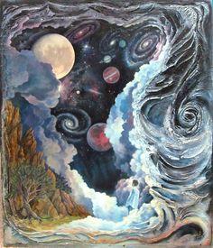 """Wonder"" 36""x48"" Mixed Media Cosmic, Mixed Media, Sculpture, Eye, Painting, Beauty, Design, Painting Art, Sculptures"