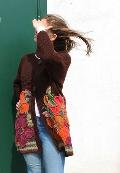 Knitted Cardigan Eden Wool Jacket Coat Knitted