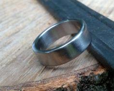 Shotgun Ring Classic Wedding Band Mens Wedding by JLFabrications