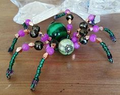 Beaded Spiders, Insects, Beaded Bracelets, Beads, Beading, Pearl Bracelets, Bead, Pearls, Seed Beads