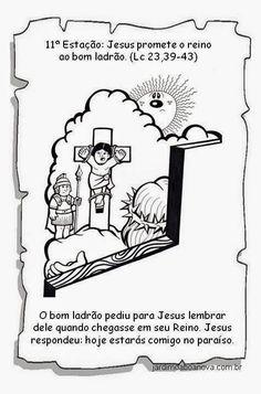 Jardim da Boa Nova: Via Sacra Religion, Comics, Sacramento, History Of Easter, Sunday School Kids, Kids Bible Activities, Catechism, Sunday School, Drawings