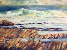 """""""Surging Sea"""" by Christine Read. Paintings for Sale. Buy Art Online, Great Team, Paintings For Sale, Beautiful Artwork, Online Art Gallery, Impressionism, Surfing, Sea, Wall Art"""