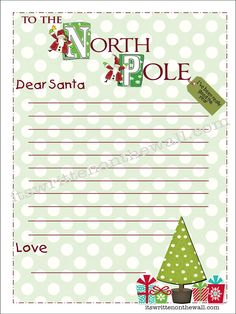 Have your kids written their letter to Santa yet? Choose from 5 different letters-Our Gift to you (Freebie)