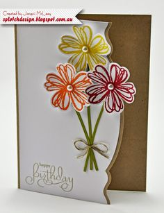 Splotch Design - Jacquii McLeay Independent Stampin' Up! Demonstrator: Flower Shop Projects