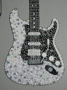 Quilled Fender Guitar by Lesley-This is made from paper - I want to use it for inspiration on a quilt.