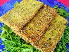 Tofu en costra de polenta e hierbas