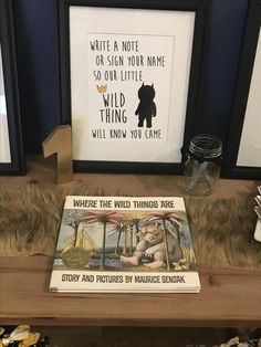 Where the Wild Things Are first (1st) birthday party wild one guest book decor sign note love fun table fur