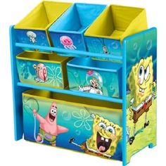 Kids Toy Storage Organizer Box Book Rack Drawer Chest Bin Playroom Furniture Set #Unbranded