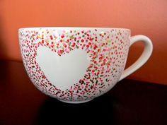DIY Valentines : DIY valentine's day sharpie mug