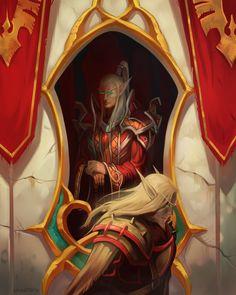Comission: Blood Elves by Larbesta on deviantART