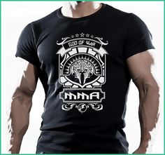 GOD DE GUERRA Camiseta MMA Muay Thai Gimnasio, Entrenamiento COMBATIENTES, T-shirt O-Neck Teenage T Shirt Top Tees