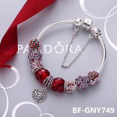 Pandora bracelet valentine's day gift to her 9pcs charms