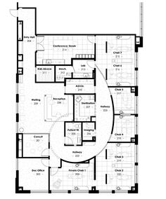 Lotus Family Dental - Floor Plan 3100 sq ft (space distribution)