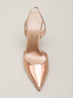 Giambattista Valli Iridescent Panel Pumps - Fivestory - Farfetch.com Nude pink satin and leather iridescent panel pumps from Giambattista Valli featuring a pointed toe, a brand embossed insole, a slingback strap and a mid-heel. $800