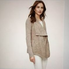 Loft neutral colored sweater. Neutral colored Loft cardigan with side pockets. Great texture and gray/ beige tone. Great condition. LOFT Sweaters Cardigans
