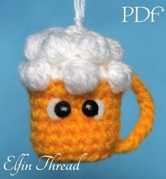 Looking for your next project? You're going to love Draft Beer Keychain Amigurumi Pattern by designer Lorena da Silva.