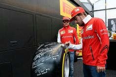 Autographed tire to be auctioned off..