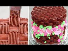 Chocolate Basket Flower Cake   Easy DIY Chocolate Dessert Decoration Tips - YouTube
