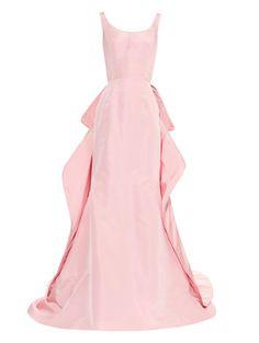 OSCAR DE LA RENTA Love this: Bow-Detail Silk Gown @Lyst