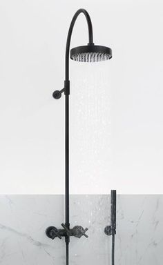 Tara Balck Edition Wall Mounted Shower. So cool.