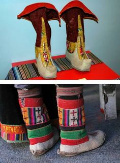 Again with the band thing. I bought Tibetan boots. Only stadium touring acts should wear this attire.