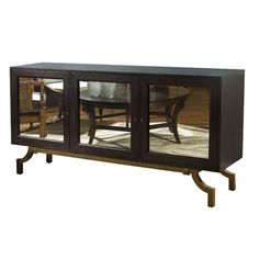 Maxwell (6012.EL) Sideboard at Belle Meade Signature - Espresso Luxe finish with antique mirror door fronts