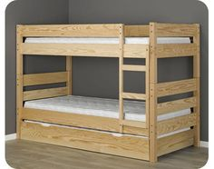 123 Bunk Bed - natural pine